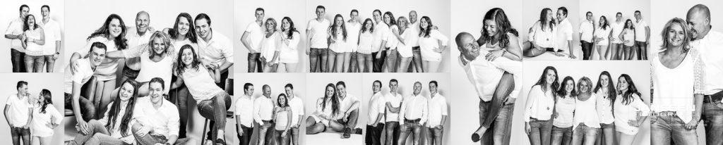 Een fotoshoot met een gezellige familie