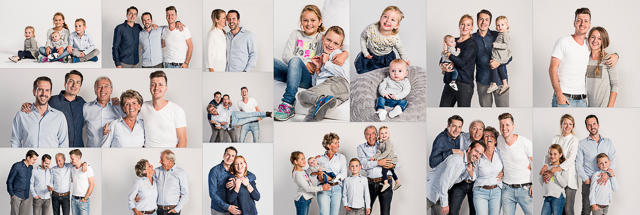 December perfect voor een familiefoto