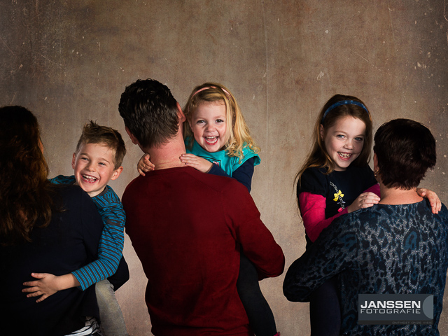 Familie Hurkmans in de studio