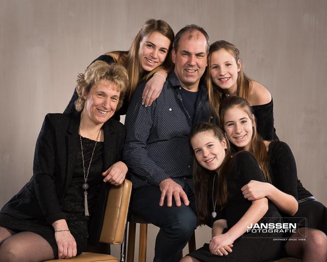 een spontane familiefoto