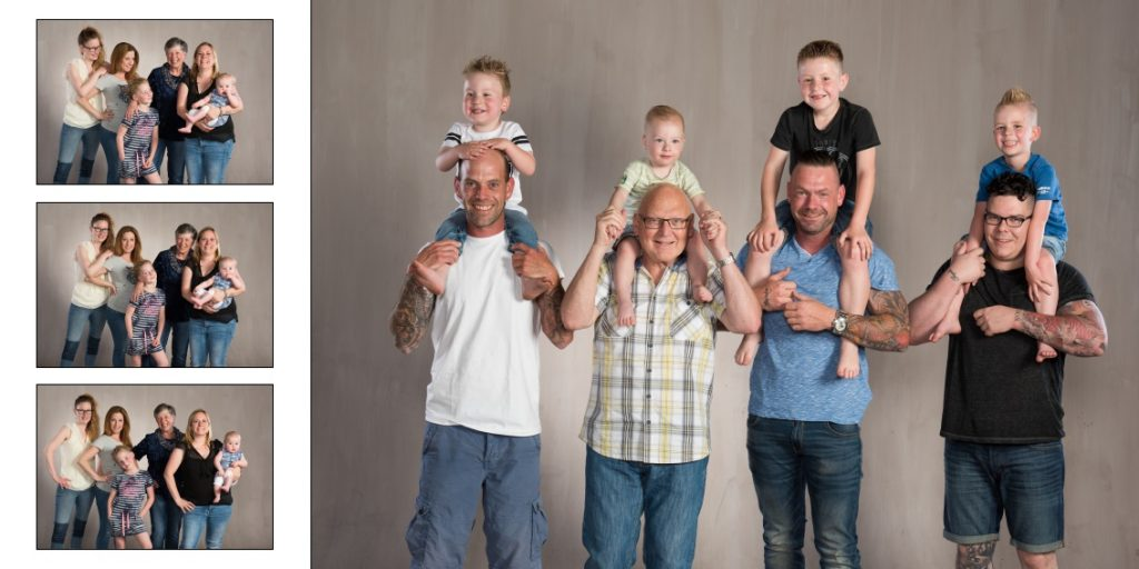 Family fun fotoshoot met familie fotoboek