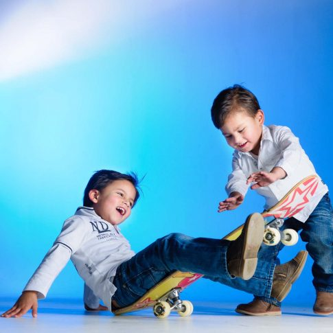 sportieve kinderfoto