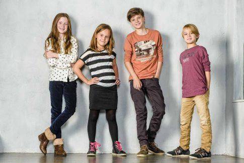 Tieners op de foto