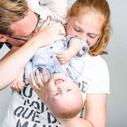 kinderfoto met papa en mama
