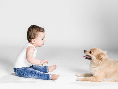kinderfoto met hond
