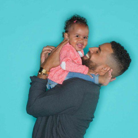 knuffel foto met papa