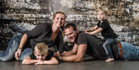 stoere vlotte gezinsfotoshoot