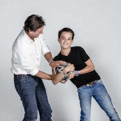 gezinsfoto vader en zoon
