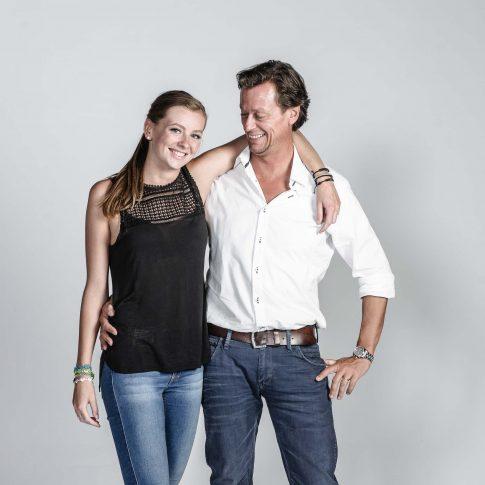 gezinsfoto vader en dochter