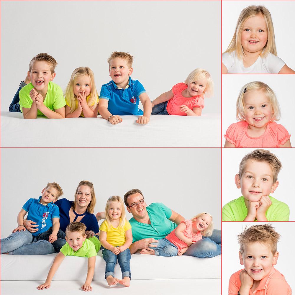 Kleurrijke gezinsfoto's