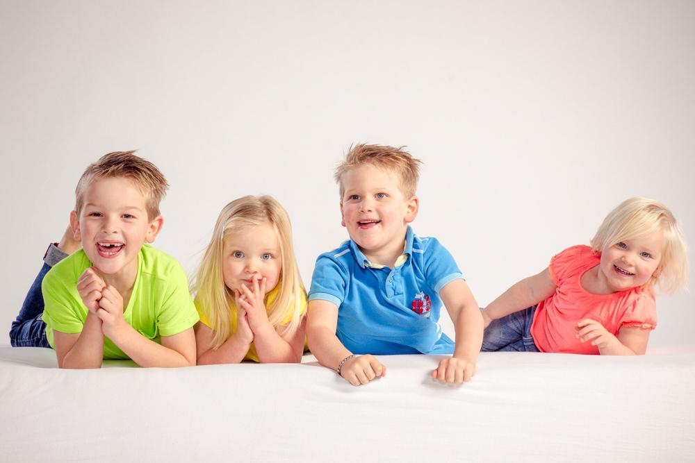 kleurrijke gezinsfoto