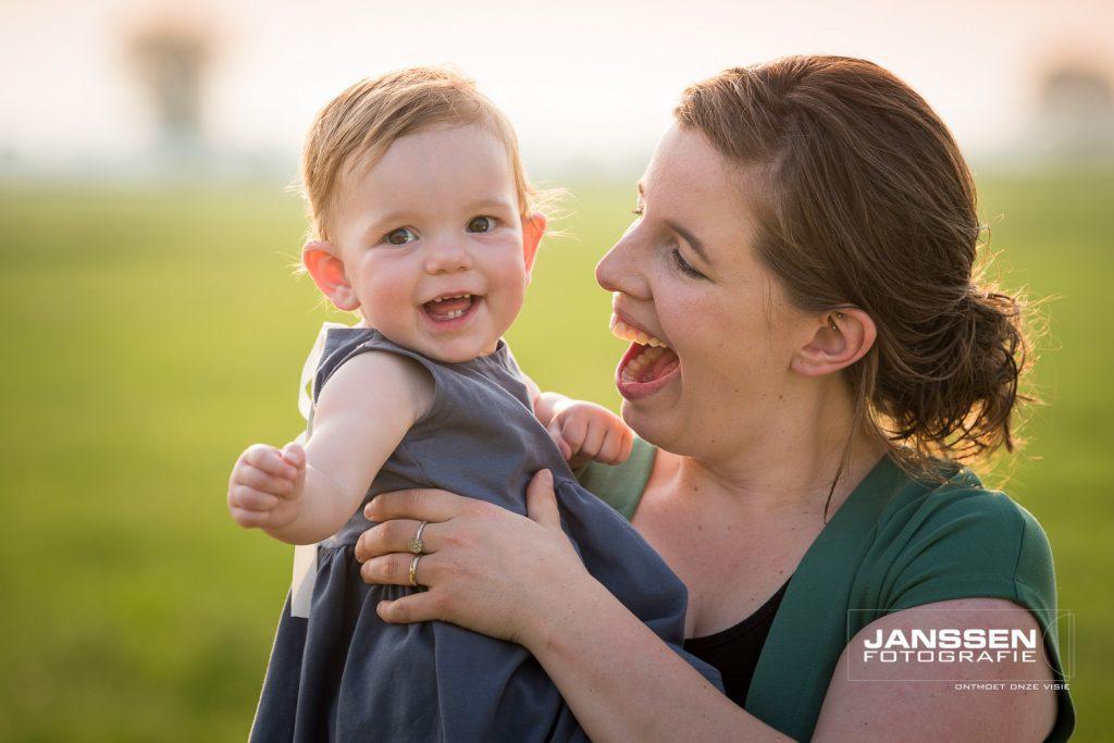 moeder en dochter fotografie op lokatie