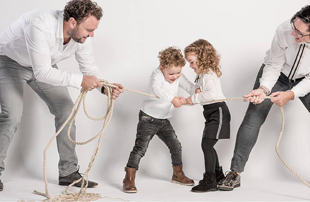 ongedwongen gezinsfoto