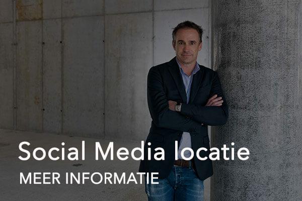 social media op locatie button